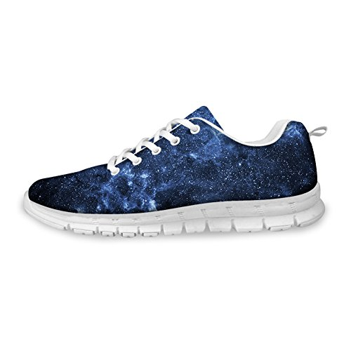 FOR U DESIGNS Fashion Galaxy Print Mens & Womens Breathable Light Weight Lace Up Sneakers Running Shoes Galaxy-9 aUQRaZx