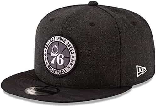 82f7402ef4 New Era Philadelphia 76ers Black 2018 Tip-Off Series 9FIFTY Adjustable Hat