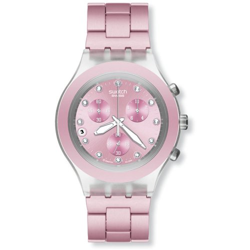 Swatch - Reloj Swatch - SVCK4037AG - Full-Blooded Pink - SVCK4037AG: Amazon.es: Relojes