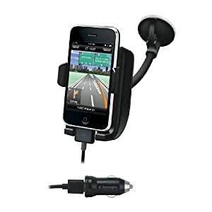 Kensington K39208EU - Base de coche y amplificador de sonido para iPhone, color negro