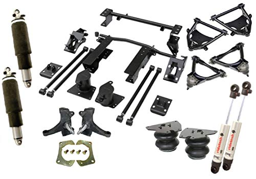NEW RIDETECH AIR SUSPENSION SYSTEM,HQ SHOCKWAVES,FRONT COOLRIDE & HQ SHOCKS,MUSCLEBAR,STRONGARMS,SPINDLES,BOLT-ON 4-LINK,COMPATIBLE WITH 1973-1987 CHEVROLET C10 & GMC C15 TRUCKS