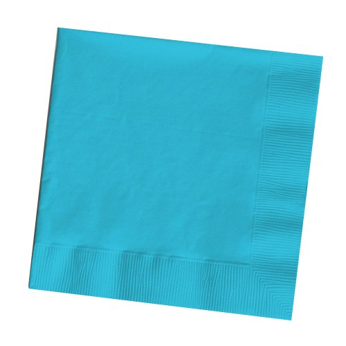 25-Count Touch of Color 3-Ply Paper Dinner Napkins, Bermuda Blue