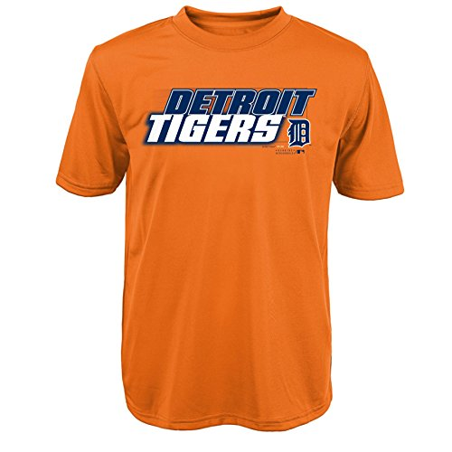 MLB Detroit Tigers Youth Boys 8-20 ''Kinetic Team & City'' Tee-XL (18), Orange by Outerstuff