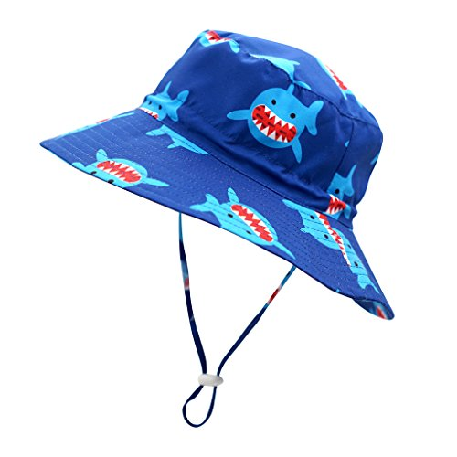 Home Prefer UPF 50+ Kids Hat Lite Sun Bucket Hat for Boys Sun Protection Hats Shark #52]()