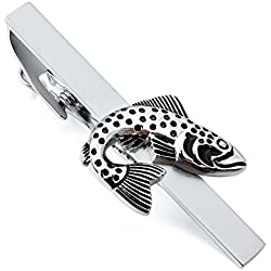 HAWSON Vintage Jumping Fish Novelty Tie Bar Clip for Man Wedding Necktie Accessories