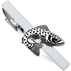 HAWSON Vintage Jumping Fish Novelty Tie Bar Clip for Man Wedding Necktie Accessories