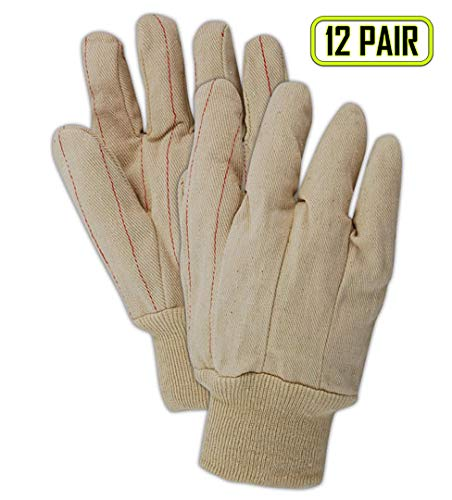 Magid Glove & Safety 94JK Magid MultiMaster 94K 18 oz. Clute Pattern Double Palm Gloves, Men's (Fits), Natural, Men's Jumbo (Fits XL) (Pack of 12) ()