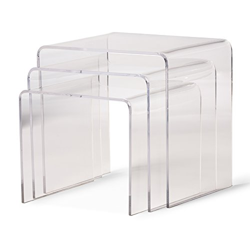 Amazing Amazon.com: Baxton Studio Acrylic Nesting Tables, Clear: Kitchen U0026 Dining
