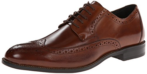 Stacy Adams Men's Garrison Wingtip Oxford,Cognac,12 M US