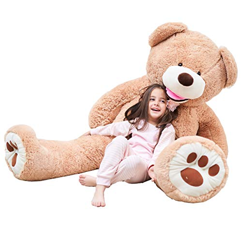 IKASA Giant Teddy Bear Plush Toy Stuffed Animals 5.25 Foot Pink, 63 inches