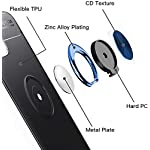 Spazy Case® Xiaomi Mi 11X Sleek Rubberized Case with Chrome Plating Ring Stand Back Cover Designed for Xiaomi Mi 11X…