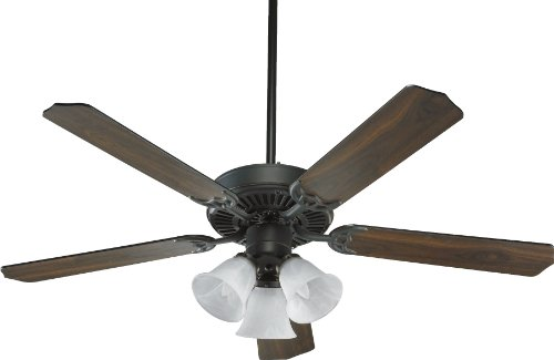Cheap Quorum International 77525-1695 Capri VI 52-Inch 3 Light Ceiling Fan, Old World Finish with Alabaster Glass Light Kit and Reversible Blades