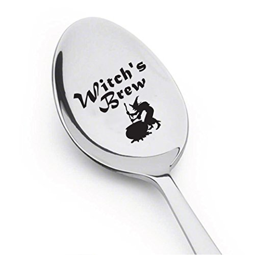 Halloween Spoon - Stamped Spoon - Engraved Gift - Gift For Halloween Party - Funny Gift - Children's Gift- Halloween Decoration (WITCH'S BREW) -