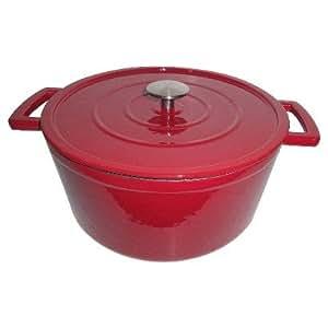 threshold cast iron dutch oven 3 qt red kitchen dining. Black Bedroom Furniture Sets. Home Design Ideas