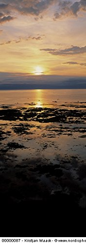 Iceland - Reflection of sunlight in water at sunset 30x40 photo reprint by PickYourImage