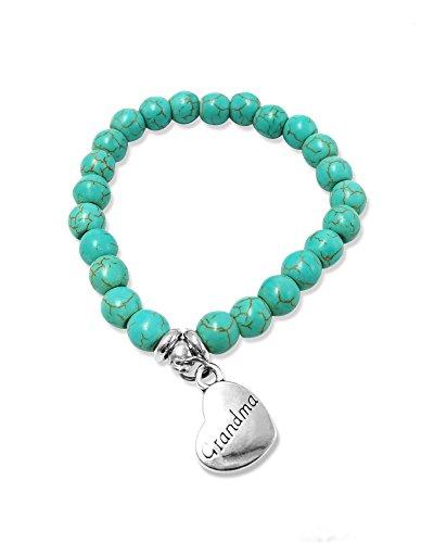 Suyi Personalized Pendant Turquoise Bracelet