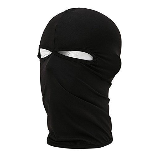 Norbi Outdoor Cycling Bike Full Cover 2 Holes Face Mask Head Neck Balaclava Hijab Caps Black