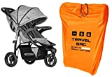 tecmac Personalized Transport Bag Stroller Size to 100X60X40 cm Gate Check Travel Bagfor Strollers Foldable for Airport Airplane Car Trips Yellow 085