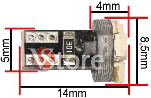 10 Lampade LED T5 3 SMD 3528 BIANCO Per Auto Cruscotto Quadro Strumenti Fari ANGEL EYES Depo FK Posizione 12V