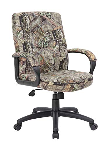 (Boss Office Products B7506-MO Mossy Oak Break-Up Country Executive Mid-Back Chair Camo)