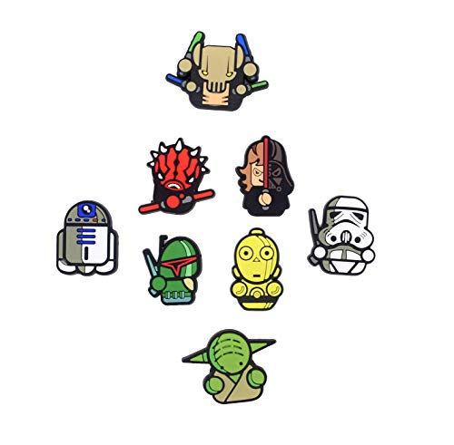 Exclusive Refrigerator Magnets -BeAwesome Magnets Star wars Star wars toys-Star Wars Refrigerator Magnets-Star Wars Set of 8 Magnets Home Kitchen Décor ()