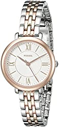 Fossil Women's ES3847 Jacqueline Small Three-Hand Two-Tone Stainless Steel Watch