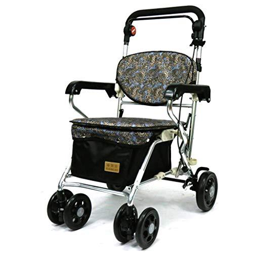 Sciever Trolley El Carro de la Compra de la Carretilla del Viejo Hombre, se Puede Empujar para Sentarse Viejo Andador...