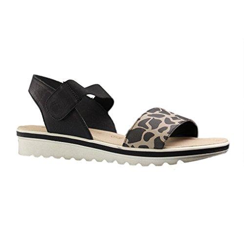 Remonte-Sandali da donna, misura grande, colore: nero