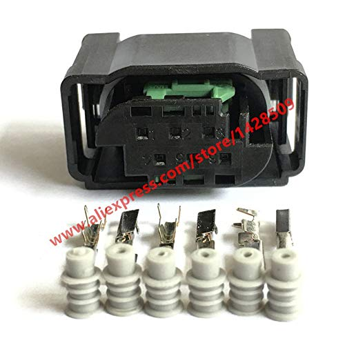 Davitu Connectors - 6 Way Tyco Accelerator Pedal Plug 1-967616-1 7M0 973 119 For BENZ BMW Throttle Valve Sensor Connector