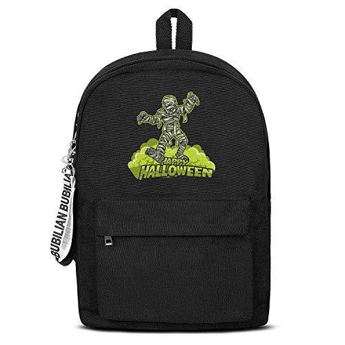 Bandage Zombie Halloween Decorations Women Men Water Resistant Black Canvas School Backpack Laptop Backpack -