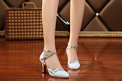 White Heel Miyoopark femme bal 8cm Salle de qwYgI