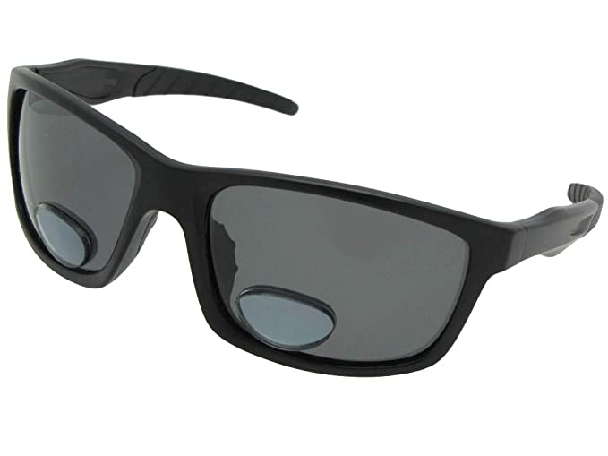 d71a72c994ae Amazon.com  Bifocal Fishing Sunglasses (Flat Black Frame-Polarized ...