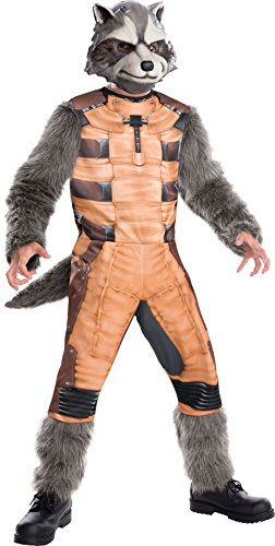Child Rocket Raccoon Gloves (UHC Boy's Guardians of the Galaxy Rocket Raccoon Child Halloween Costume, Child M (8-10))
