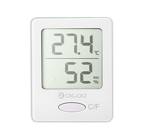 DIGOO DG-TH1130 Thermomètre Intérieur Numérique Hygromètre Température Humidité Pour Maison Confortable Blanc