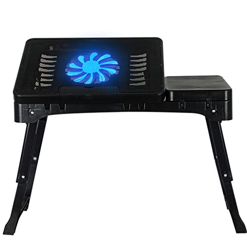 HYLRUS Laptop desk Bed use With fan Foldable Lazy desk Simple Small table by HYLRUS