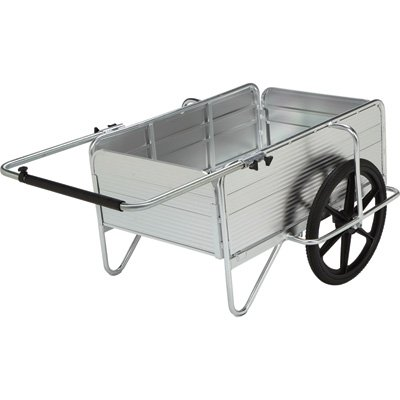 Strongway Aluminum Yard Cart – 36.6in.L x 48.8in.W, 330-Lb., 5.72 Cu. Ft. Capacity