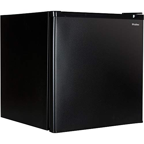 Haier HCR17B Refrigerator/Freezer, 1.7-Feet Cubic, Black (Renewed)