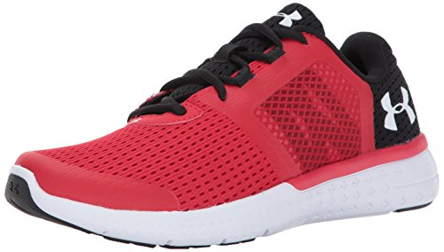 Under Armour Boys' Grade School Micro G Fuel RN, Red/Black/White, 5.5 M US Big (Grade School Shoes)