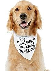 Dog Bandana, EYLEER Puppy Dog Cat My Humans are Getting Married Wedding Bandana Scarfs for Small Medium Large Dogs Wedding Engagement Announcement Pet Supplies Accessories (MY HUMANS ARE GETTING MARRIED)