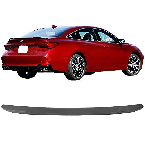 Rear Trunk Spoiler Fits 2019 Toyota Avalon | Factory Style ABS Matte Black Rear Wing Lip Spoiler Tail Trim Add On by IKON MOTORSPORTS