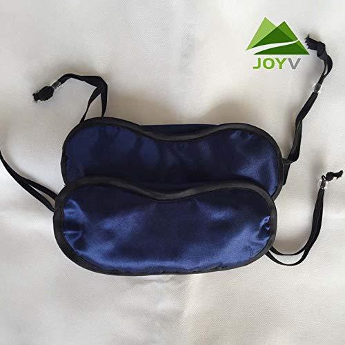 T-YZAG 2 Pieces Light-Shield Eye mask, Aviation Eye mask, Satin, Eye mask, Beaded Eyewear, Blackout Goggles