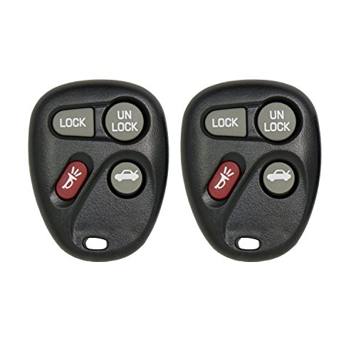 Keyless2Go New Replacement Shell Case and 4 Button Pad for Remote Key Fob FCC KOBLEAR1XT KOBUT1BT - SHELL ONLY (2 Pack) (2004 Cadillac Deville Key Fob compare prices)