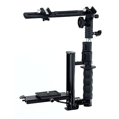 Image of Camera Brackets ALZO Flip Flash Bracket, Versatile Fast Action Camera Bracket for All DSLR Cameras with Quick Release Mount, Including Canon, Nikon, Sony