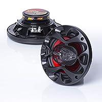 BOSS Audio CH6530 Altavoces para automóvil: 300 vatios de potencia por par y 150 vatios cada uno, 6.5 pulgadas, rango completo, 3 vías, vendido en pares, fácil montaje