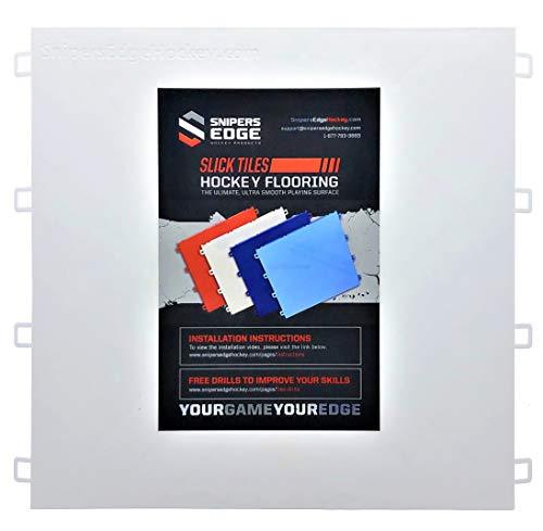 (Sniper's Edge Hockey Dryland Slick Tiles (20 White Squares) - Sized Right at 12