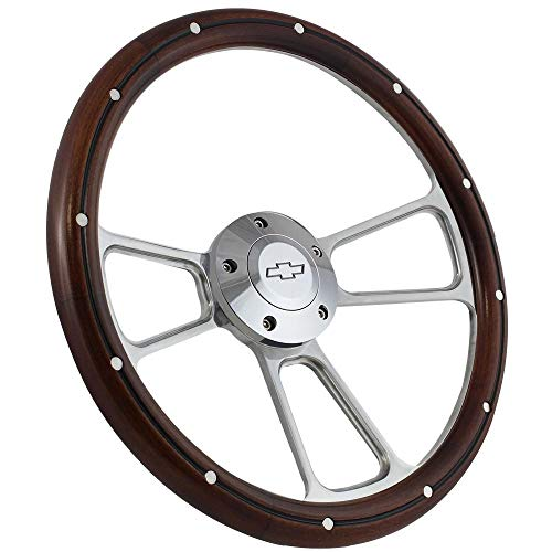 1960-1969 Chevy C10 C20 C30 Pick-Up Truck Mahogany Steering Wheel & Adapter