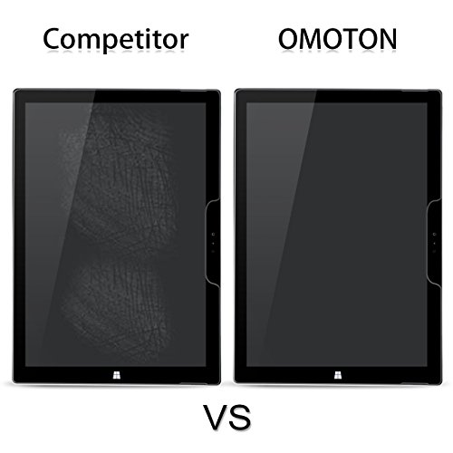 [2-Pack] New Surface Pro 2017/Surface Pro 4 Screen Protector - OMOTON Tempered Glass Screen Protector with [High Responsivity] [Scratch Resistant] [Bubble Free] [High Definition] by OMOTON (Image #5)