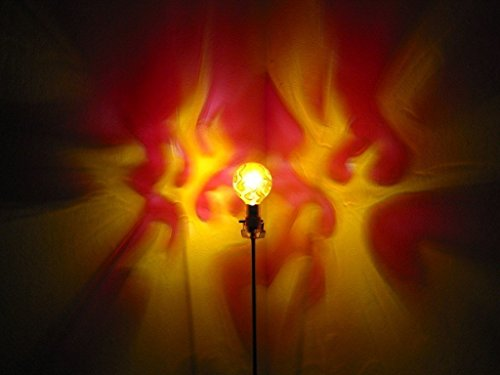 Hand-Painted Flames Light Bulb projects on Wall!