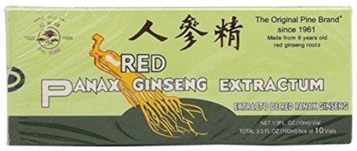- RED PANAX GINSENG EXTRACTUM 10 VIALS