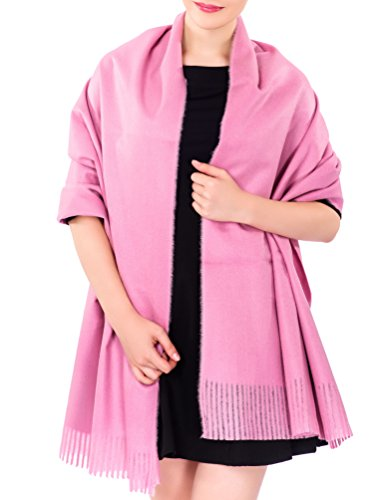 Light Pink Gift (Ideal Gift for Women Cashmere Large Blanket Scarf Evening Wrap Light Pink (Gift Box))